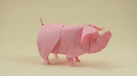 origami-svinka